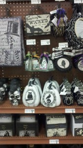 The lone Halloween merchandise in the store as of 7/17/2013