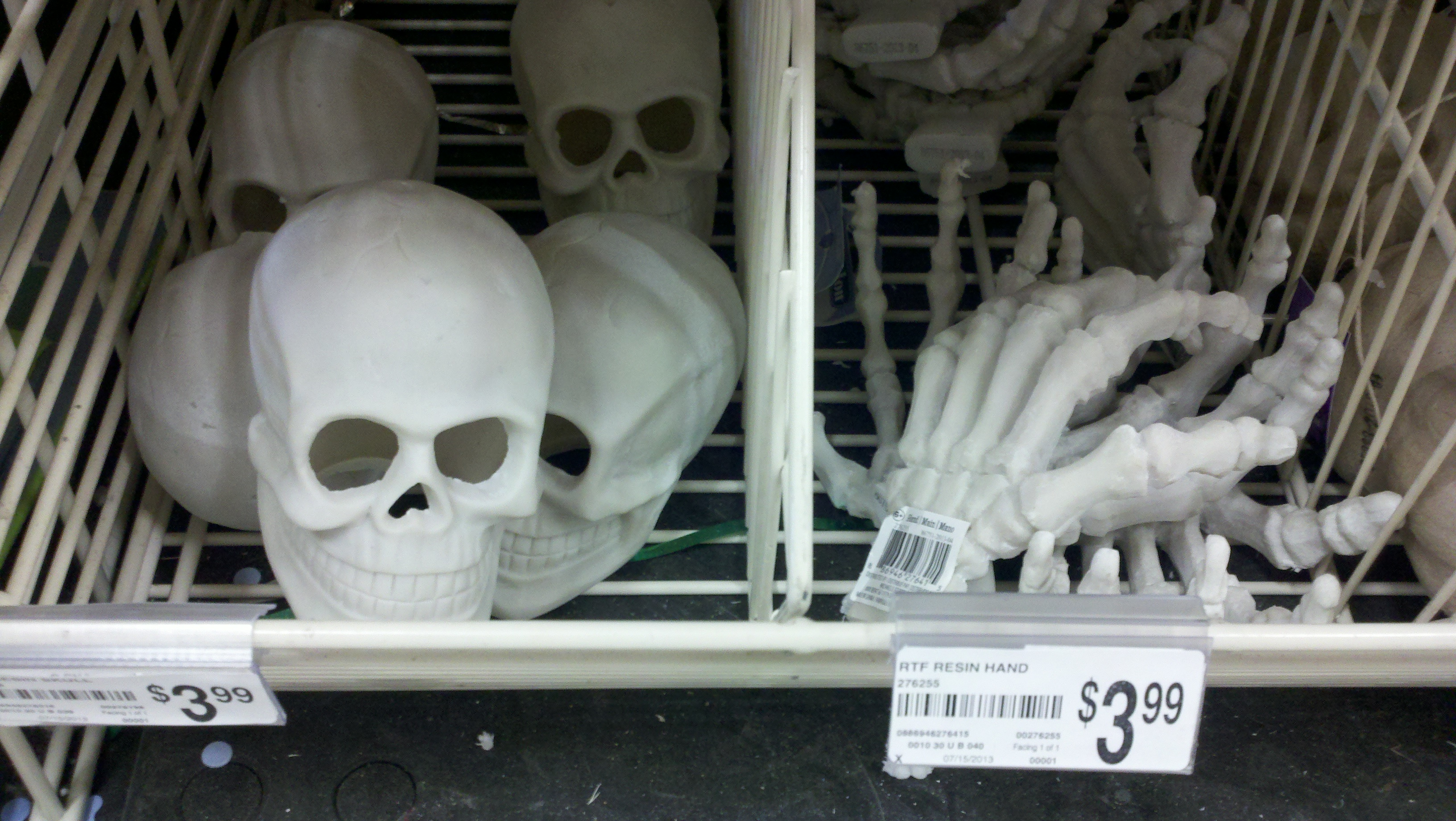 Resin Skulls and Skeleton Hands