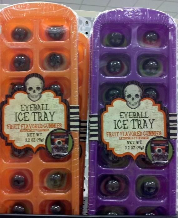 Ice cube tray with Gummy eyeballs