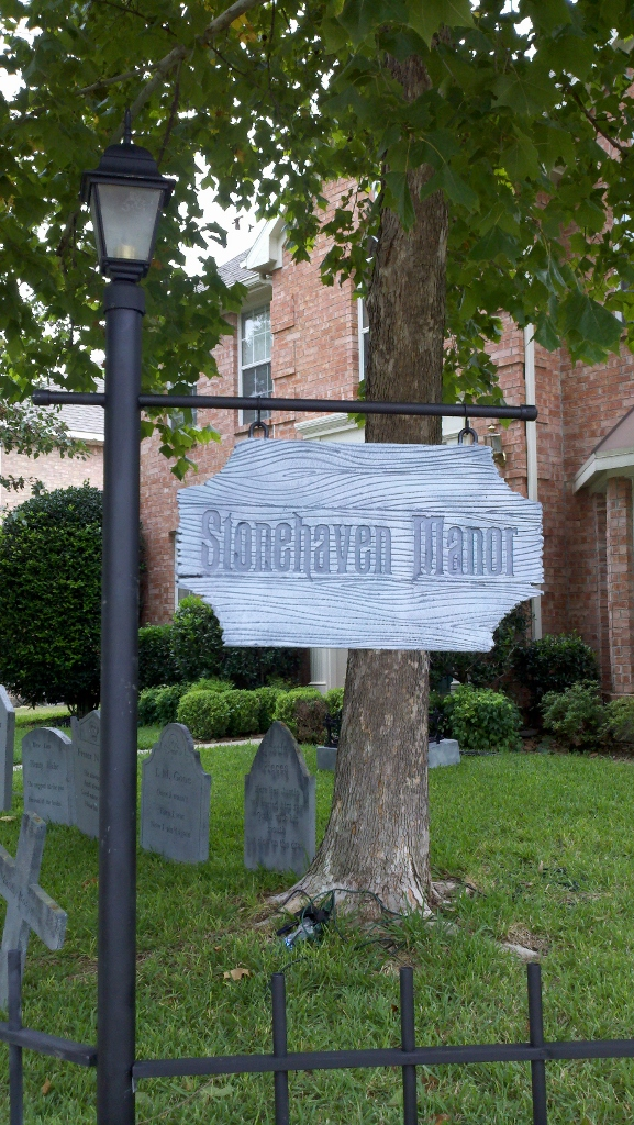 sign mounted