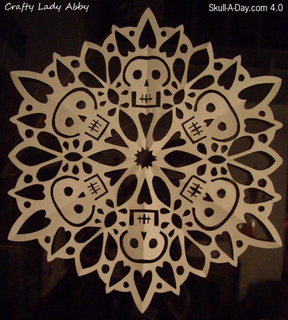 Skullflake from craftyladyabby.blogspot.com