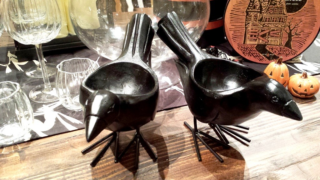 Crow candy dishes