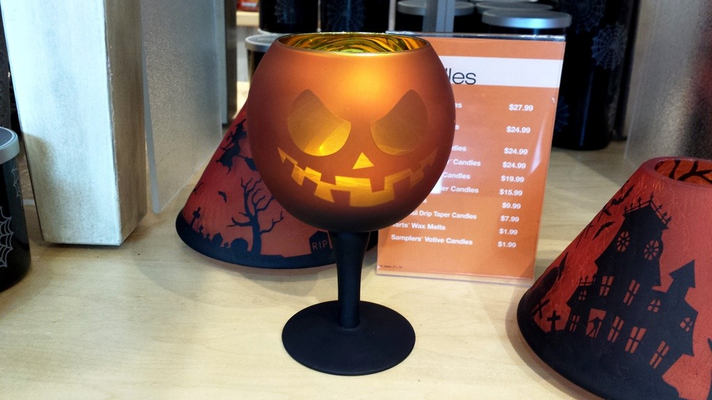 Looks like a wine glass, but actually a tea light holder.