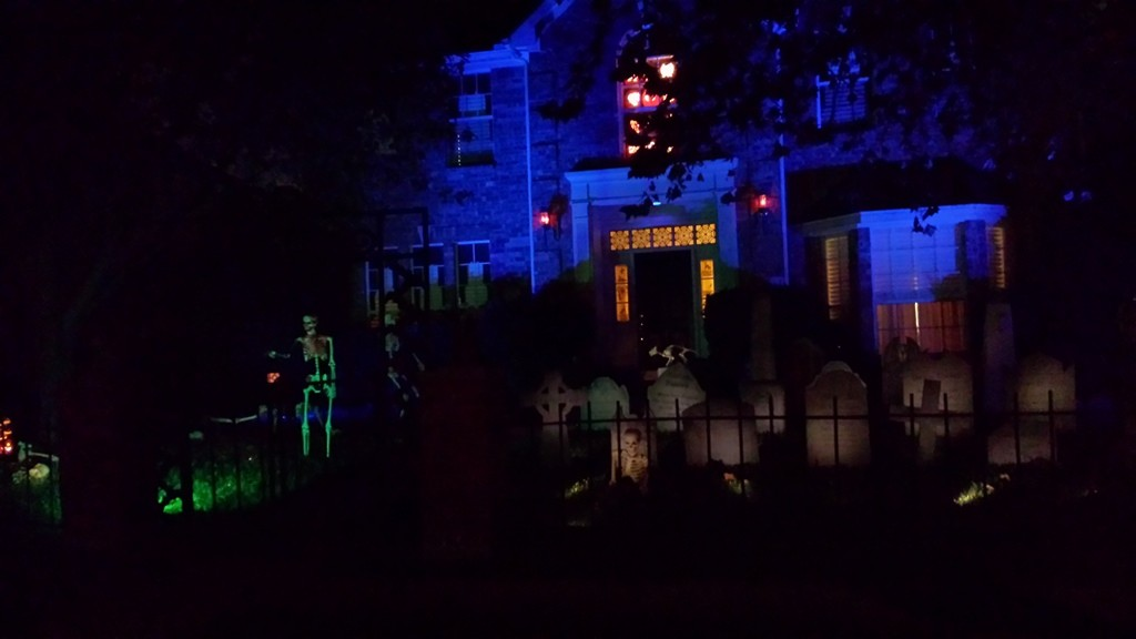 Nighttime at the manor